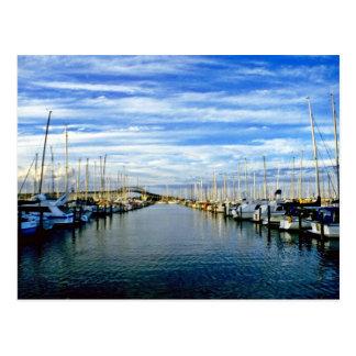 Cartão Postal Yacht club, porto de Auckland, ilha norte