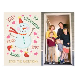 Cartão Postal YAY seu cumprimento da foto de Chrismas
