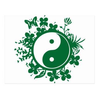 Cartão Postal Yin floral Yang