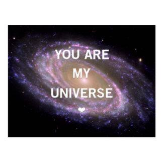 Cartão Postal You are my Univese Galaxy Postcard