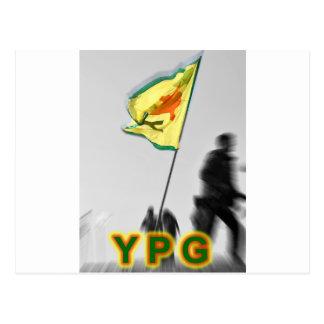 Cartão Postal YPG - Lutadores curdos da liberdade de Kobani