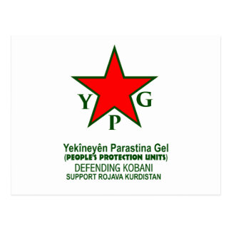 Cartão Postal ypg-ypj - kobani do apoio - claro