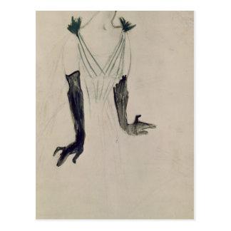 Cartão Postal Yvette Guilbert, 1894