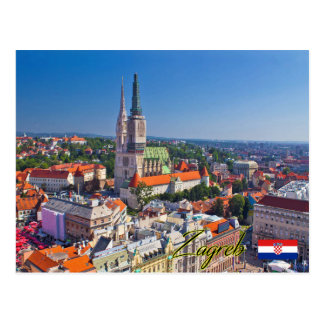 Cartão Postal Zagreb Croatia