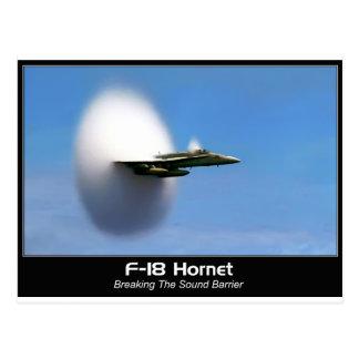 Cartão Postal Zangão do boom sónico F-18