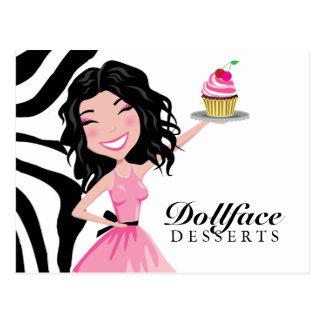 Cartão Postal Zebra de Kohlie de 311 sobremesas de Dollface