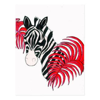 Cartão Postal Zebra reversa