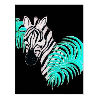 Cartão Postal Zebra reversa - invertida