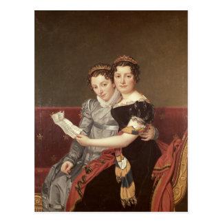 Cartão Postal Zenaide e Charlotte Bonaparte, 1822
