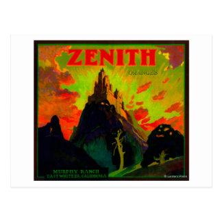 Cartão Postal Zénite LabelWhittier alaranjado, CA