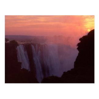 Cartão Postal Zimbabwe, parque nacional de Cataratas Vitória.