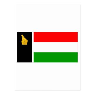 Cartão Postal Zimbabwe Rodésia Bandeira (1979)