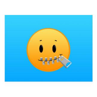 Cartão Postal Zipper Emoji
