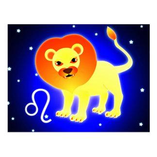 Cartão Postal Zodíaco bonito de Leo