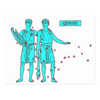 Cartão Postal Zodíaco dos Gêmeos