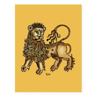 Cartão Postal Zodíaco: Leo, 1482