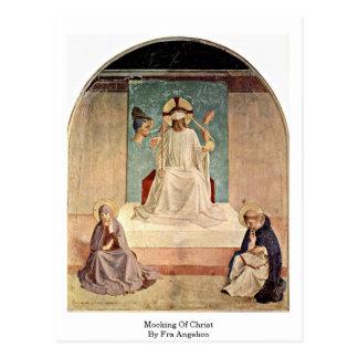 Cartão Postal Zombaria do cristo. Por Fra Angelico