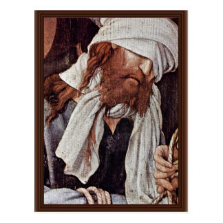 Cartão Postal Zombaria do cristo por Grünewald Mathis Gothart