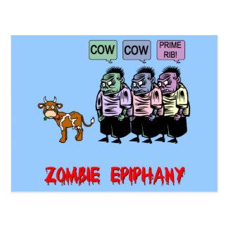 Cartão Postal Zombi engraçado