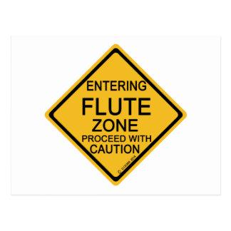 Cartão Postal Zona entrando da flauta