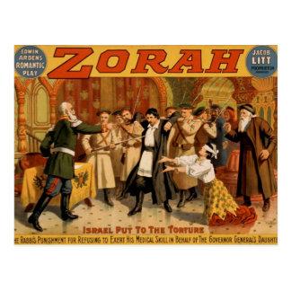 """Cartão Postal Zorah, """"Israel pôr teatro retro à tortura"""""""