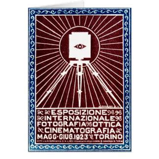 Cartão Poster 1923 da expo da foto de Turin
