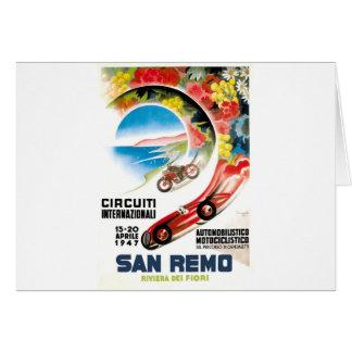Cartão Poster 1947 grande da raça de San Remo Prix