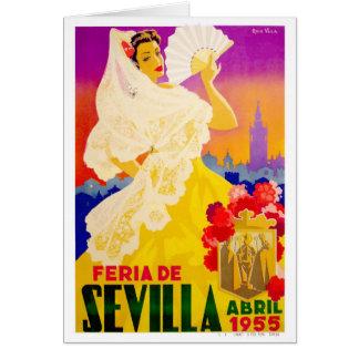 Cartão Poster 1955 justo de Sevilha abril da espanha