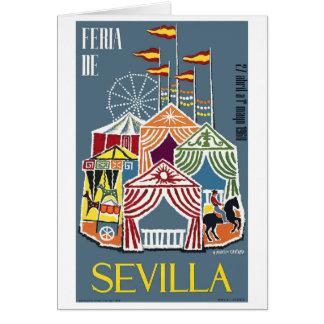 Cartão Poster 1960 do festival de Sevilha da espanha