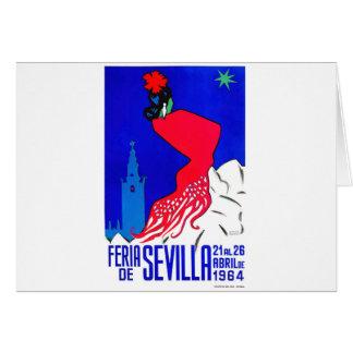 Cartão Poster 1964 justo de Sevilha abril da espanha