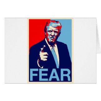 """Cartão Poster 2017 da paródia do """"medo"""" de Donald Trump"""
