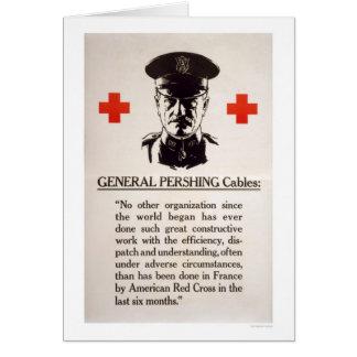 Cartão Poster da cruz vermelha do general Pershing