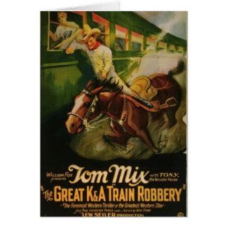 Cartão Poster da extorsão do trem do excelente K&A de Tom
