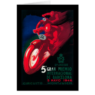 Cartão Poster da motocicleta de 5 Gran Premio Internat'l