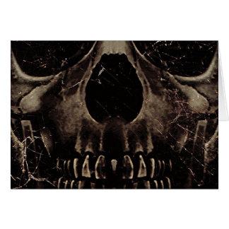 Cartão Poster da obscuridade do crânio