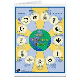 Cartão Poster da regra de ouro