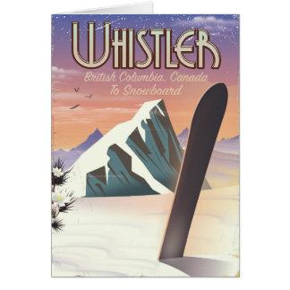 Cartão Poster da snowboarding do Columbia Britânica do