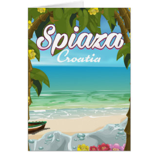 Cartão Poster das férias da praia de Spiaza Croatia