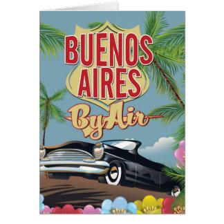 Cartão Poster das férias de Buenos Aires, Argentina