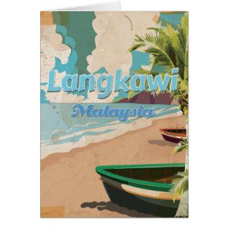 Cartão Poster das férias do vintage de Langkawi Malaysia