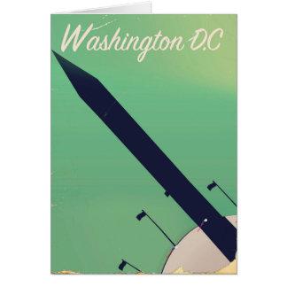 Cartão Poster das viagens vintage da C.C. de Washington