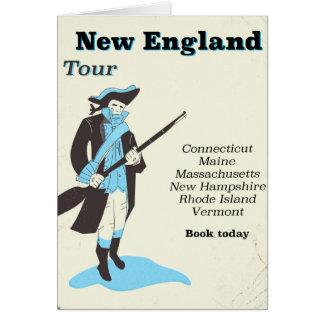 Cartão Poster das viagens vintage da excursão de Nova