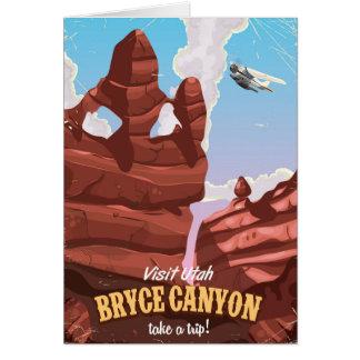 Cartão Poster das viagens vintage da garganta de Bryce