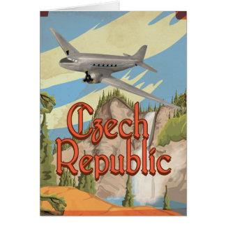 Cartão Poster das viagens vintage da república checa