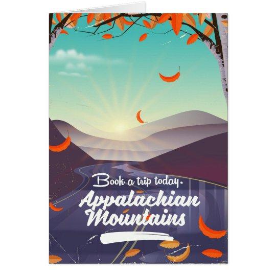 Cartão Poster das viagens vintage das montanhas apalaches
