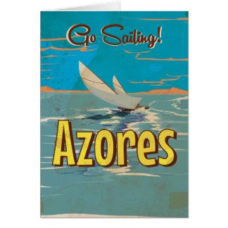 Cartão Poster das viagens vintage de Açores