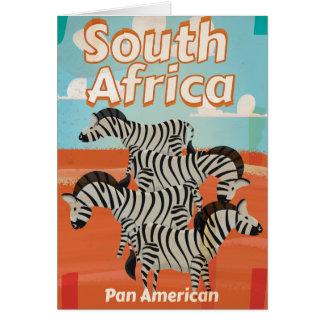 Cartão Poster das viagens vintage de África do Sul