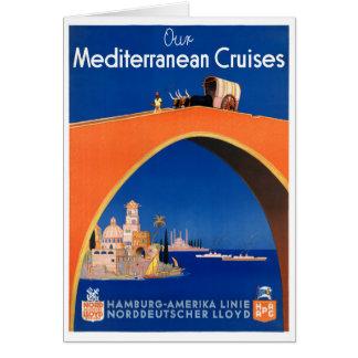 Cartão Poster das viagens vintage de Alemanha Hamburgo