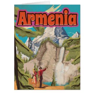 Cartão Poster das viagens vintage de Arménia