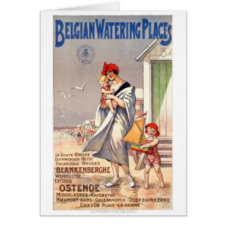Cartão Poster das viagens vintage de Bélgica Ostende